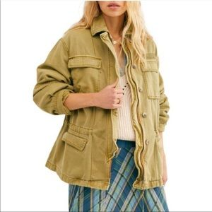 Free People Seize the Day Utility Military Jacket